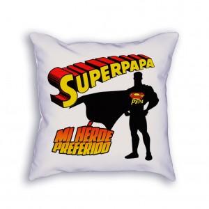 Cojín Superpapá, super héroe favorito