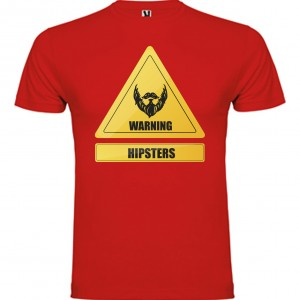 amiseta Warning Hipsters