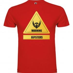 amiseta Warning Hipsters